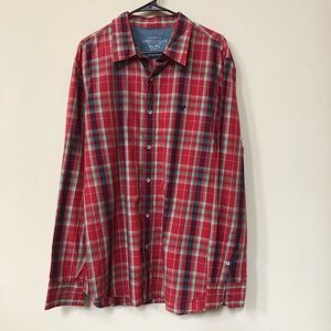 American Eagle Outfitters Red Plaids Shirt XL-TG